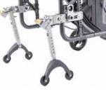 Los antivuelcos permiten elevar la silla para poder extraer las ruedas con mayor facilidad.