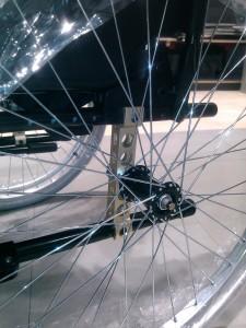 El eje de la rueda permite 20 posiciones diferentes.