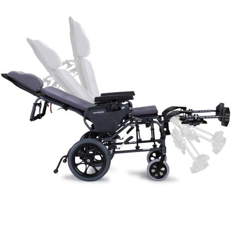 Silla de ruedas reclinable y plegable mvp502 de karma for Silla que se mueve