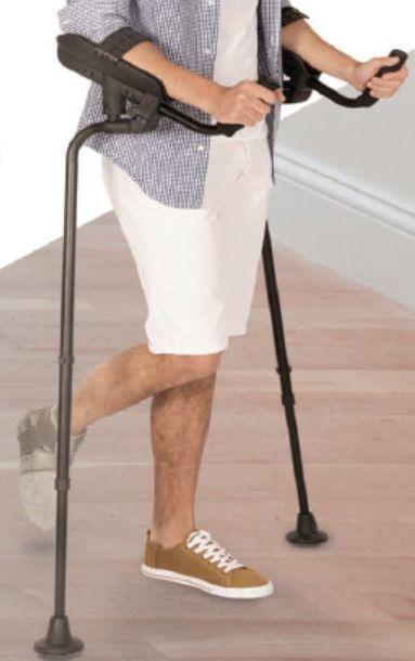 Muletas Ortopédicas Kmina, mejor distribución del peso junto con amortigüación que evita el Dolor de manos y muñecas