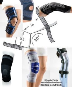 Diferentes modelos de rodillera u ortesis de rodilla, disponibles en Ortopedia Plantia de Donostia - San Sebastián