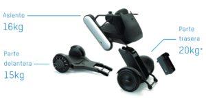 Desmontaje y transporte de la silla de ruedas eléctrica APEX Whill C, disponible en la Ortopedia Plantia de Donostia-San Sebastián
