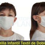 Mascarilla Infantil Textil de Doble Capa