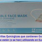 Las Autoridades Sanitarias de Canadá recomiendan NO usar mascarillas que contienen Grafeno